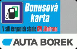 Bonusová karta k výhodnějšímu čerpání pohonných hmot v síti čerpacích stanic GW Jihotrans